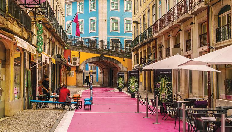 lisbon overview pink street